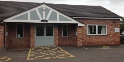 Antrobus Village Hall - repainted front